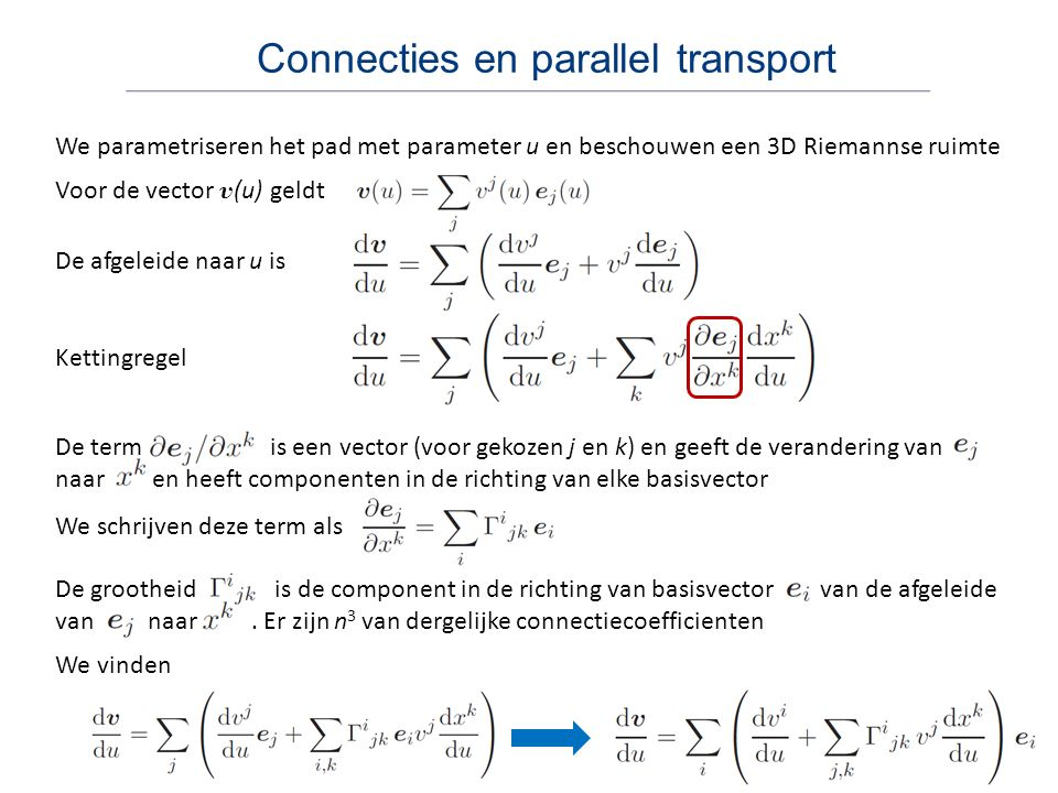 Connecties en parallel transport