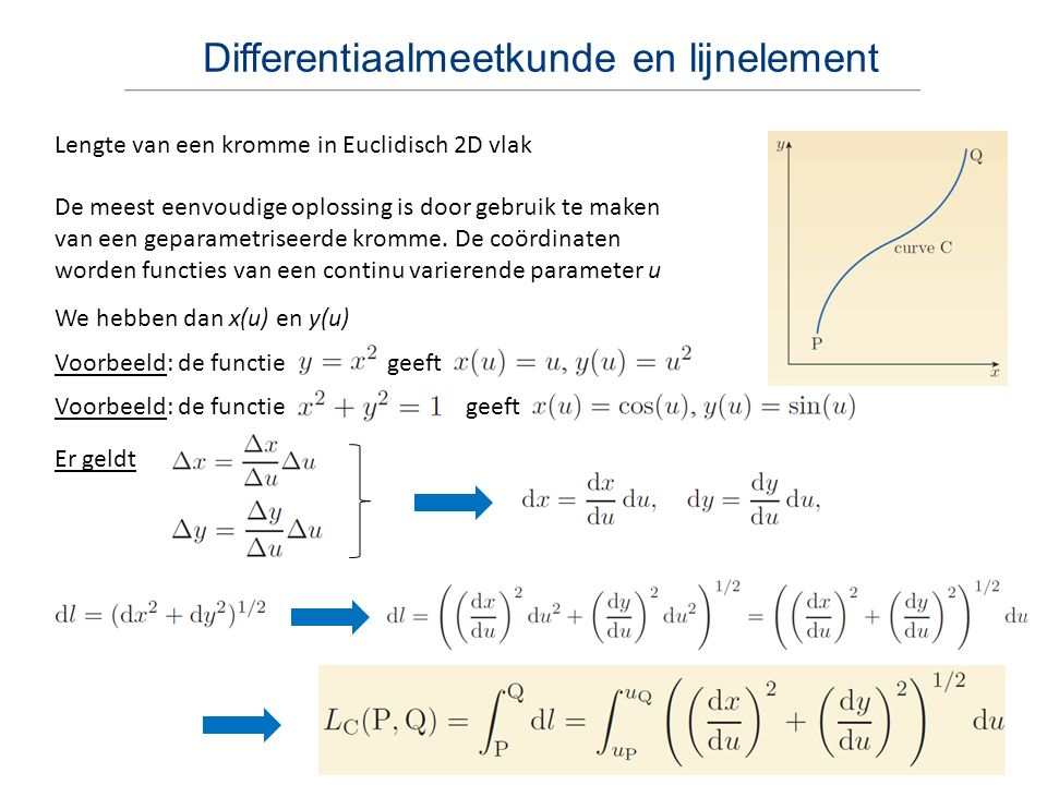 Differentiaalmeetkunde en lijnelement
