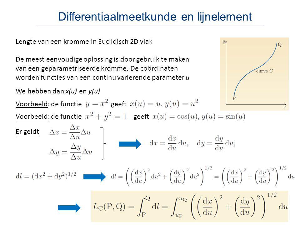 Differentiaalmeetkunde en lijnelement