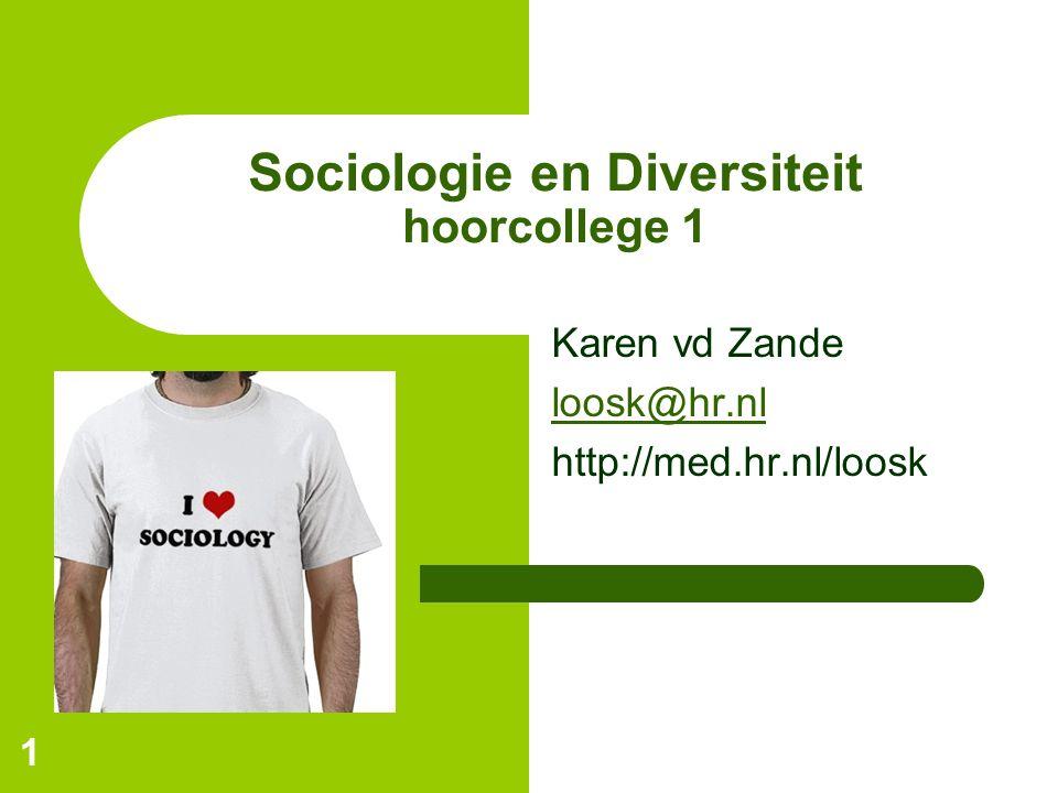 Sociologie en Diversiteit hoorcollege 1