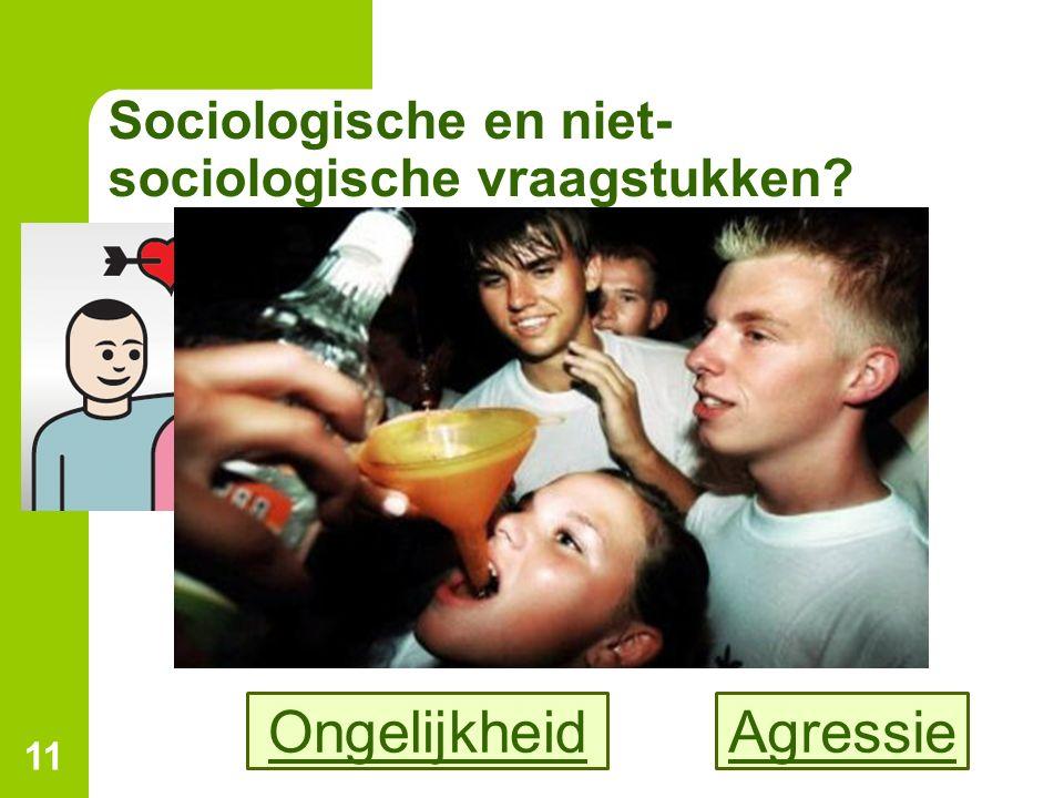 Sociologische en niet-sociologische vraagstukken