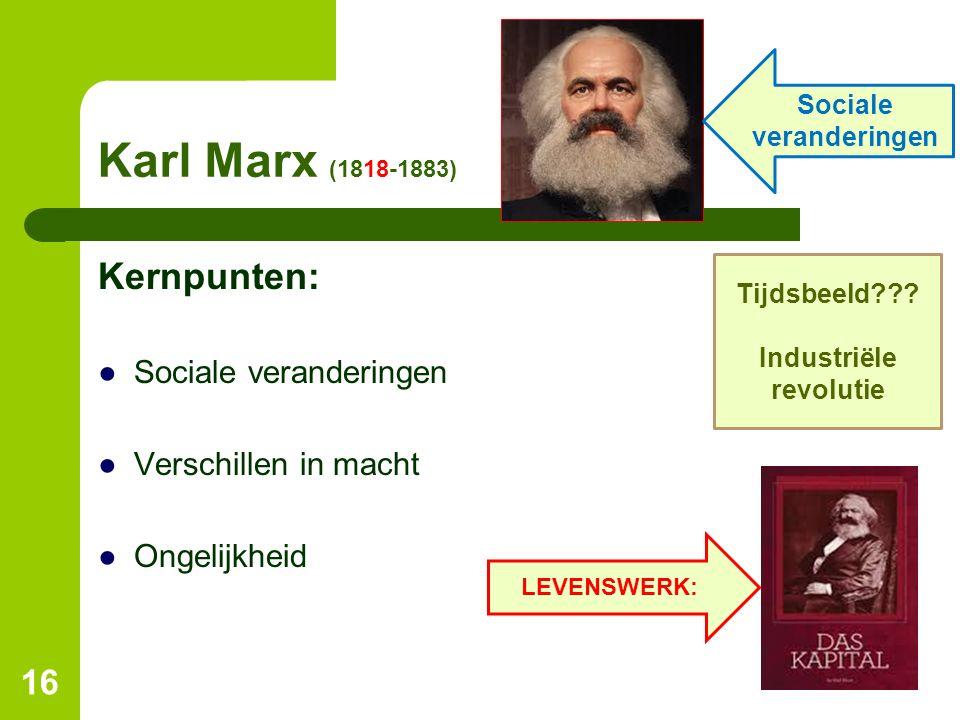 Sociale veranderingen Industriële revolutie