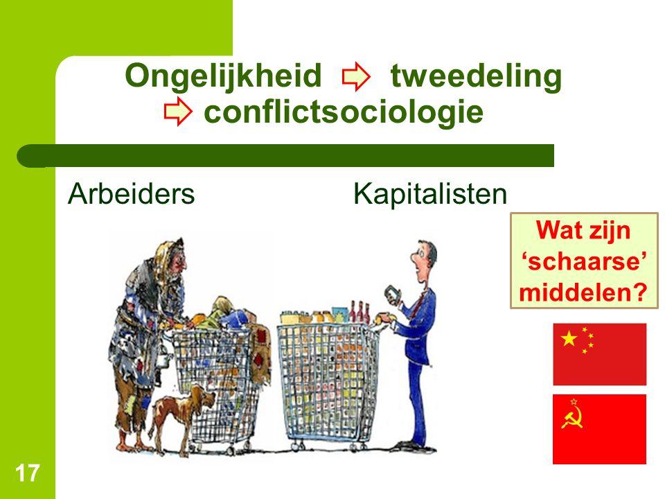 Ongelijkheid tweedeling conflictsociologie