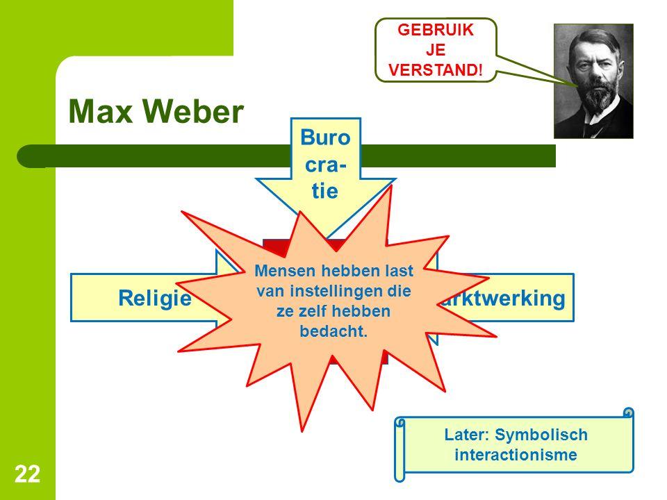 Max Weber Burocra-tie Religie Marktwerking GEBRUIK JE VERSTAND!
