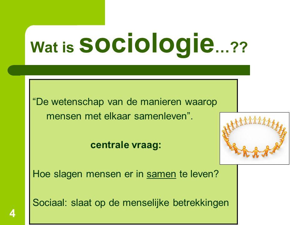 Wat is sociologie… De wetenschap van de manieren waarop