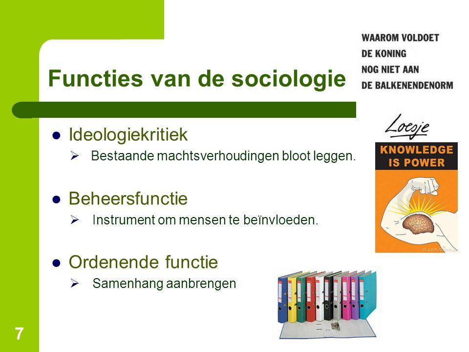 Functies van de sociologie