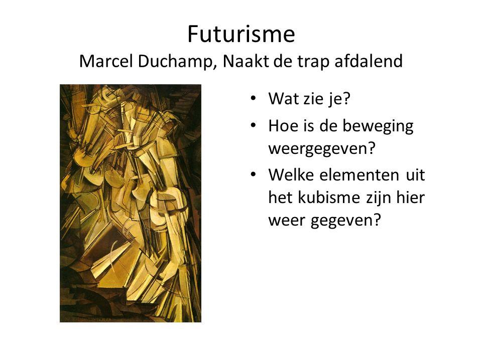 Futurisme Marcel Duchamp, Naakt de trap afdalend