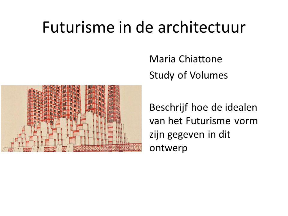 Futurisme in de architectuur