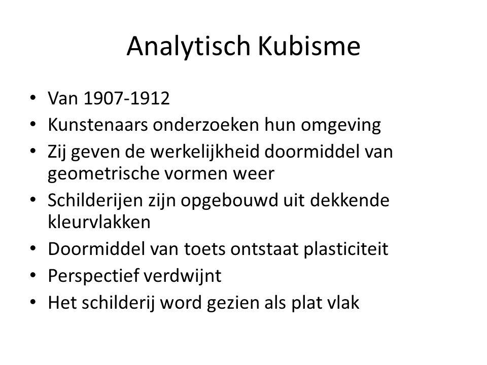 Analytisch Kubisme Van 1907-1912 Kunstenaars onderzoeken hun omgeving