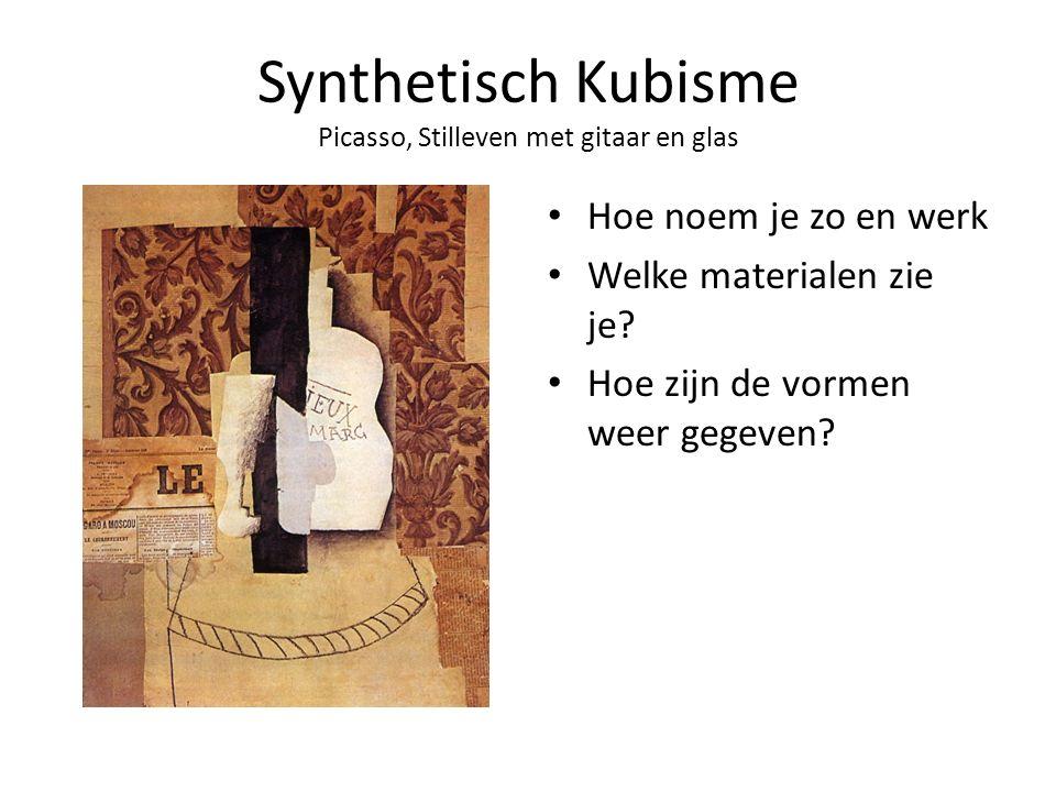 Synthetisch Kubisme Picasso, Stilleven met gitaar en glas