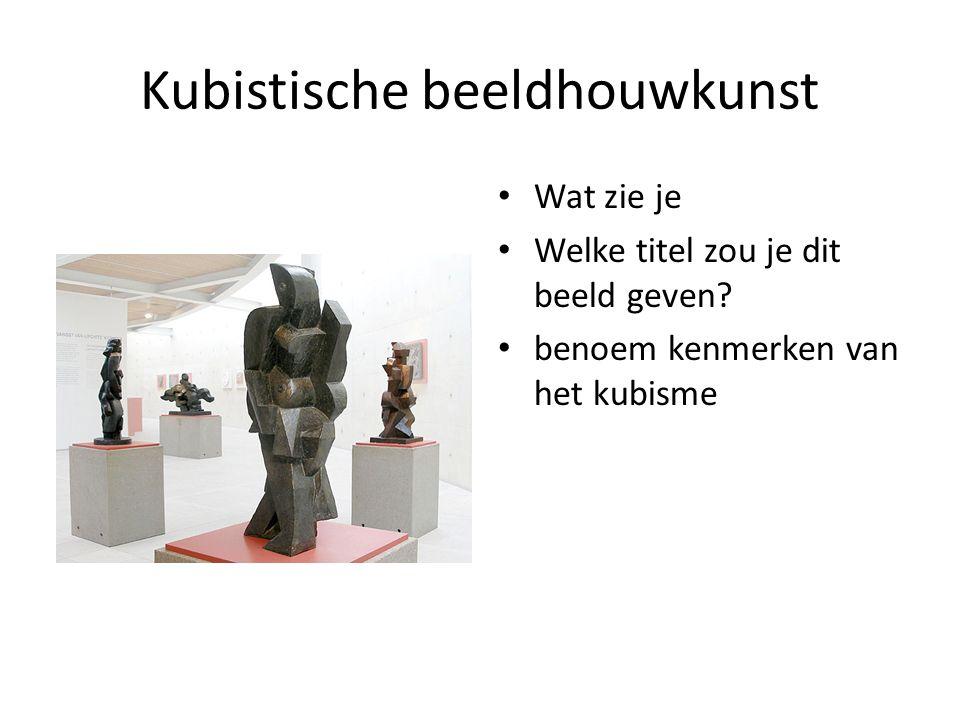 Kubistische beeldhouwkunst