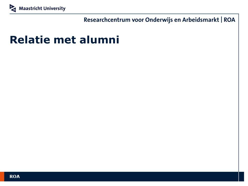 Relatie met alumni