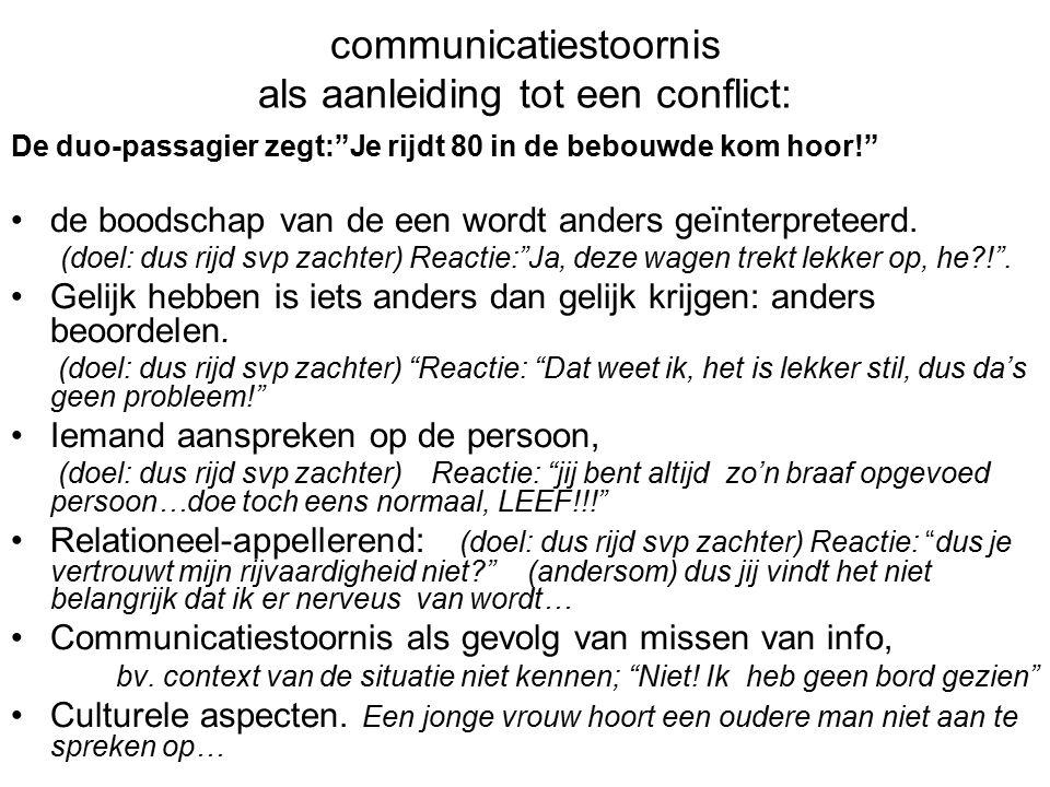 communicatiestoornis als aanleiding tot een conflict: