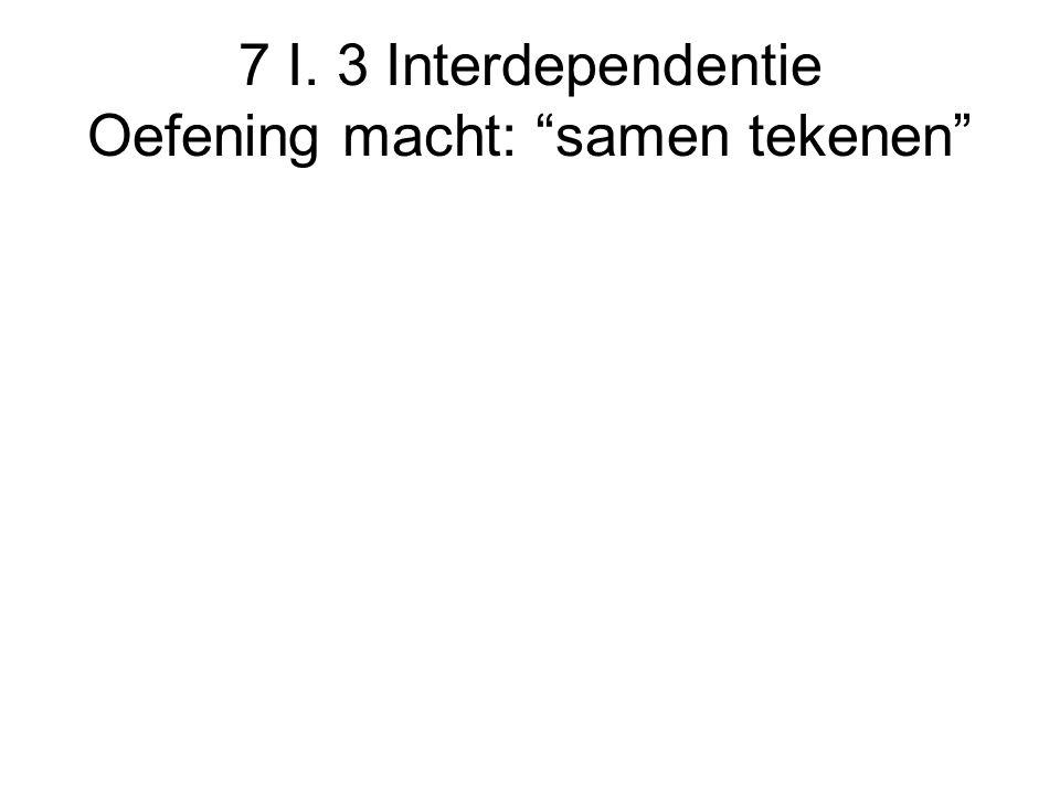 7 I. 3 Interdependentie Oefening macht: samen tekenen