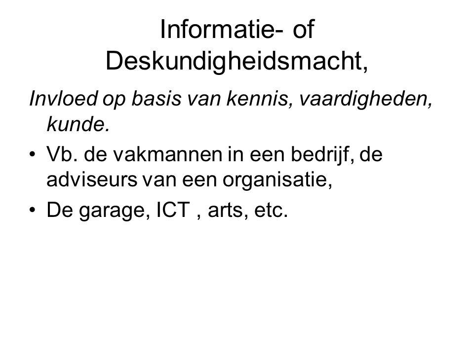 Informatie- of Deskundigheidsmacht,