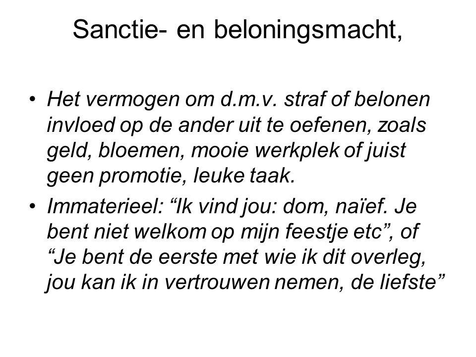 Sanctie- en beloningsmacht,