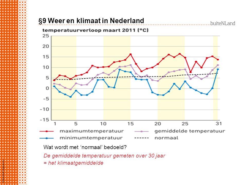 §9 Weer en klimaat in Nederland