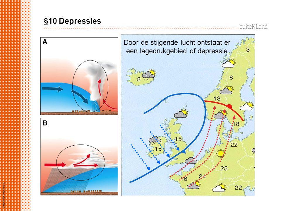§10 Depressies A Door de stijgende lucht ontstaat er