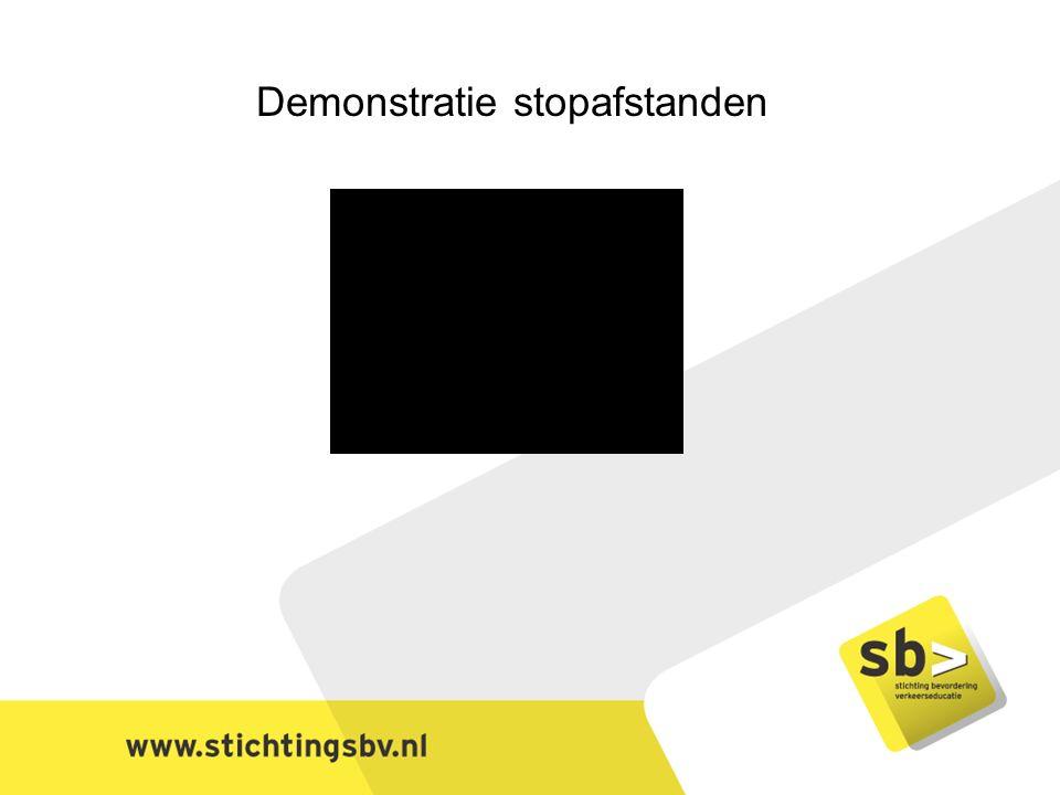 Demonstratie stopafstanden
