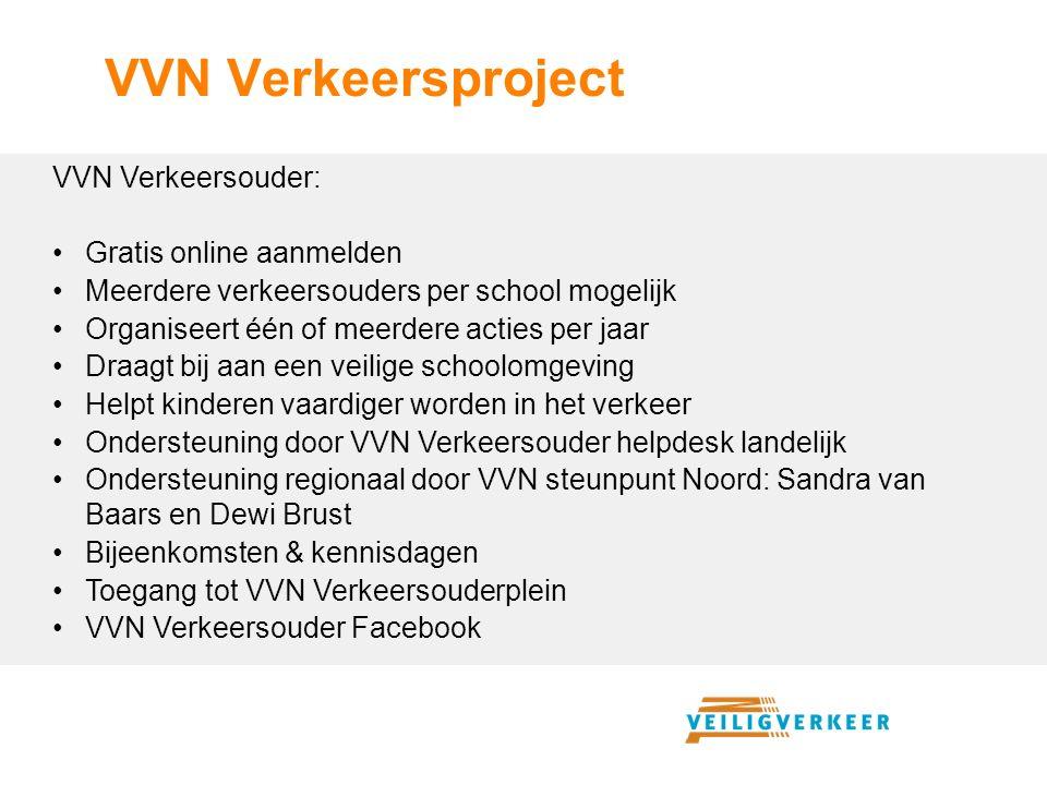 VVN Verkeersproject VVN Verkeersouder: Gratis online aanmelden