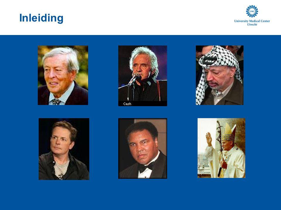 Inleiding Prins Claus, Michael J Fox, Muhammad Ali, Yasser Arafat, Paus Johannes Paulus II, Johnny Cash.