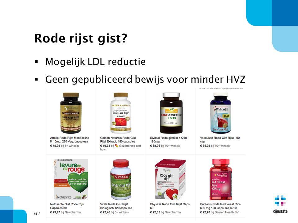 Rode rijst gist Mogelijk LDL reductie