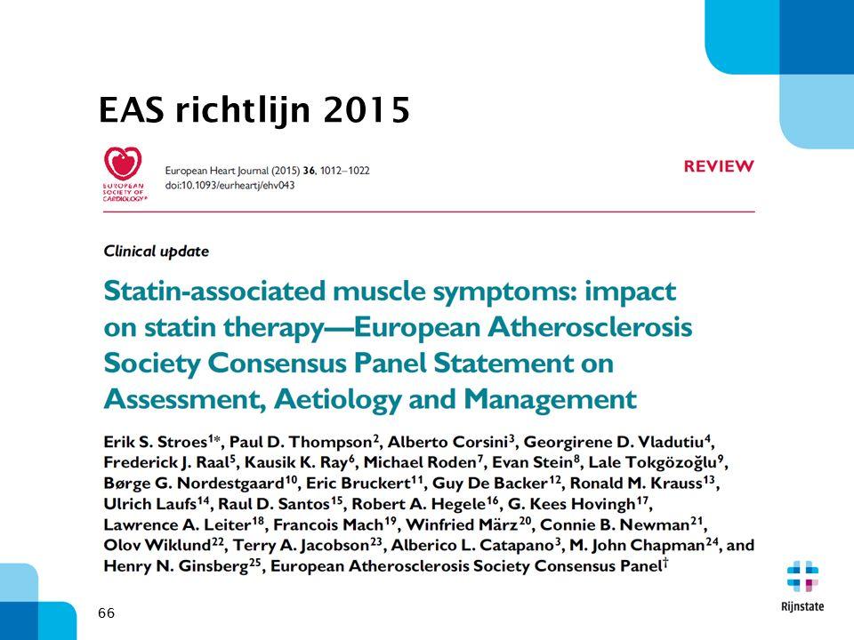 EAS richtlijn 2015 66