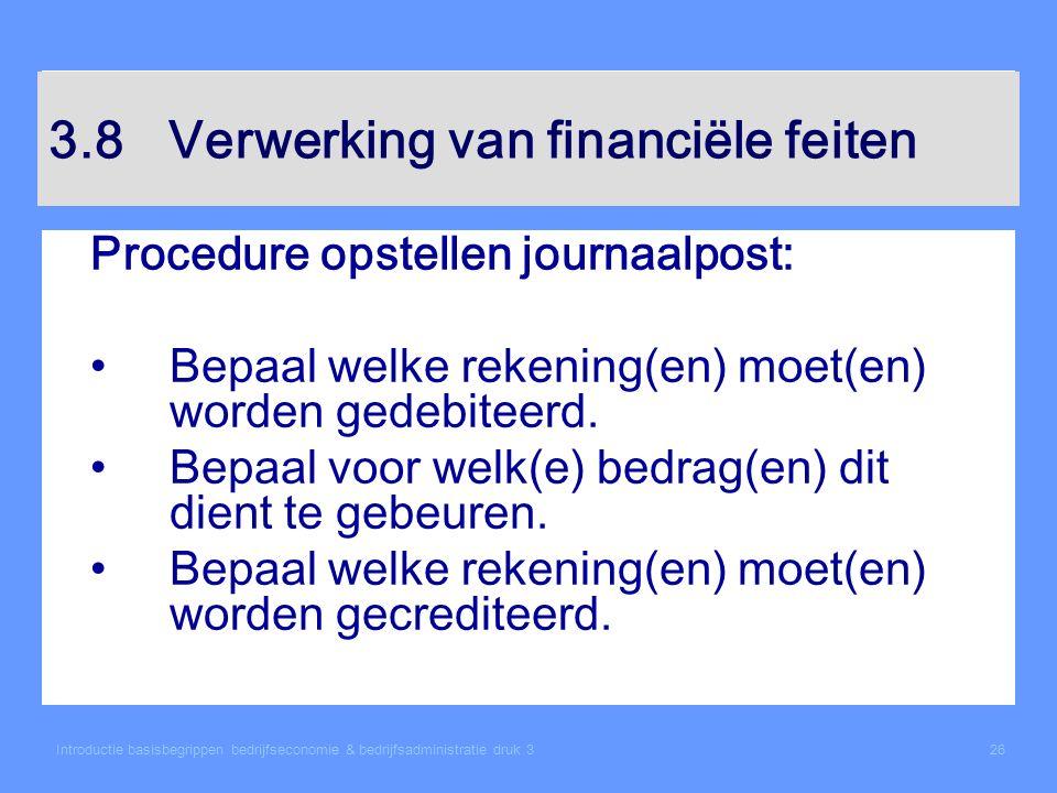 3.8 Verwerking van financiële feiten
