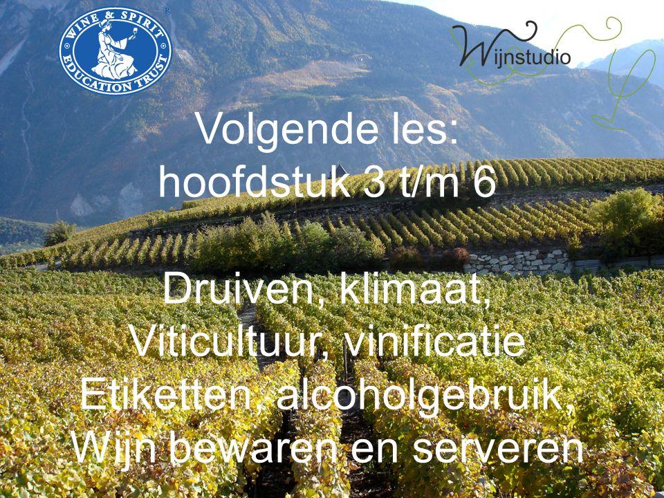 Viticultuur, vinificatie Etiketten, alcoholgebruik,