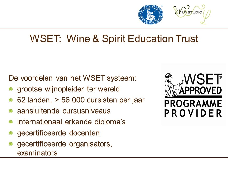WSET: Wine & Spirit Education Trust
