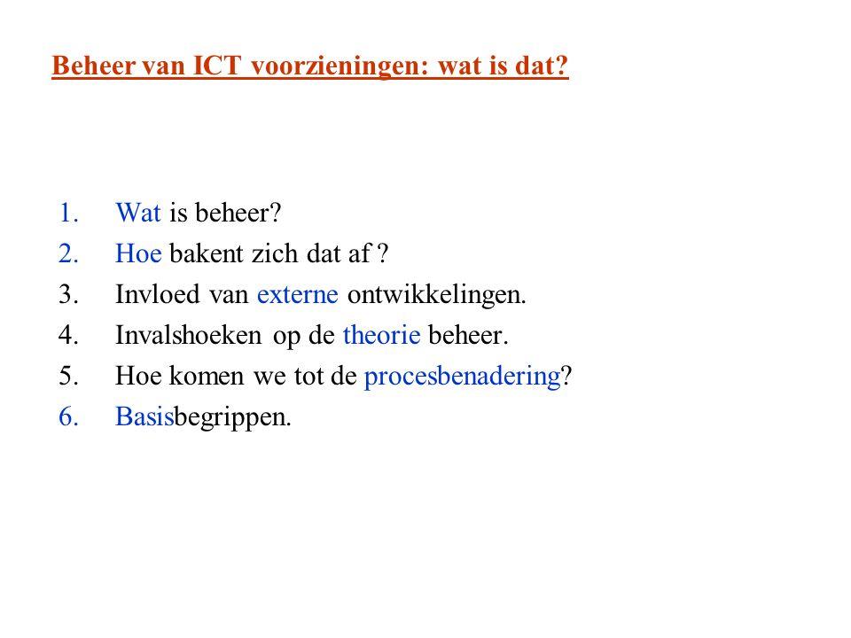 Beheer van ICT voorzieningen: wat is dat