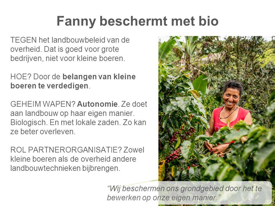 Fanny beschermt met bio