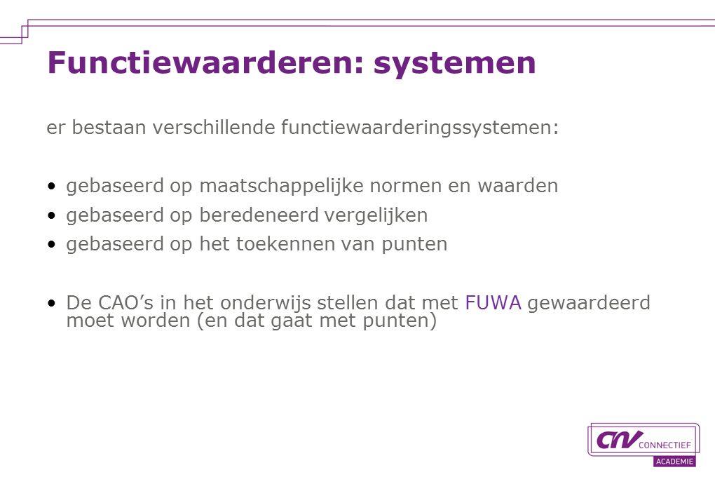 Functiewaarderen: systemen