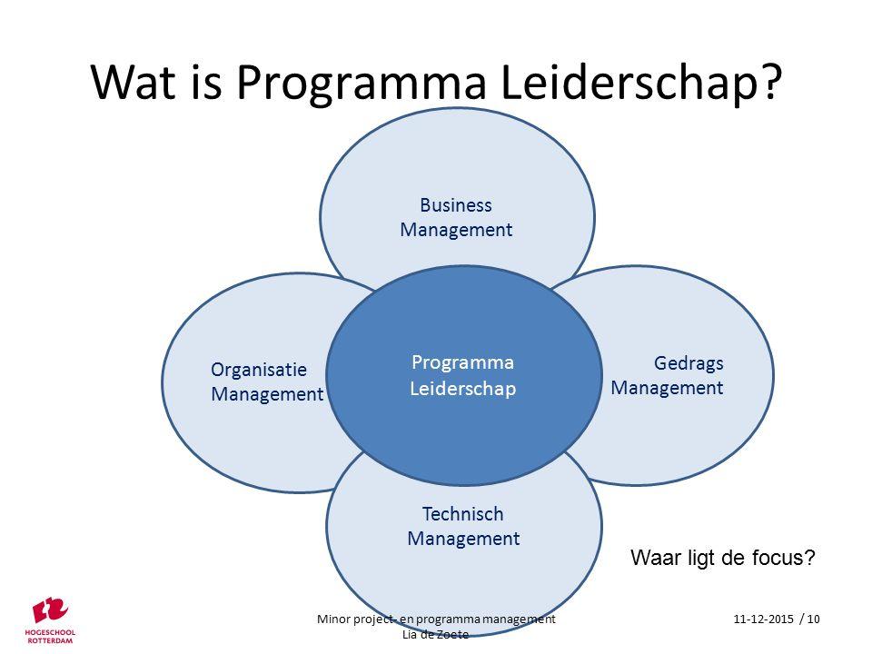 Wat is Programma Leiderschap