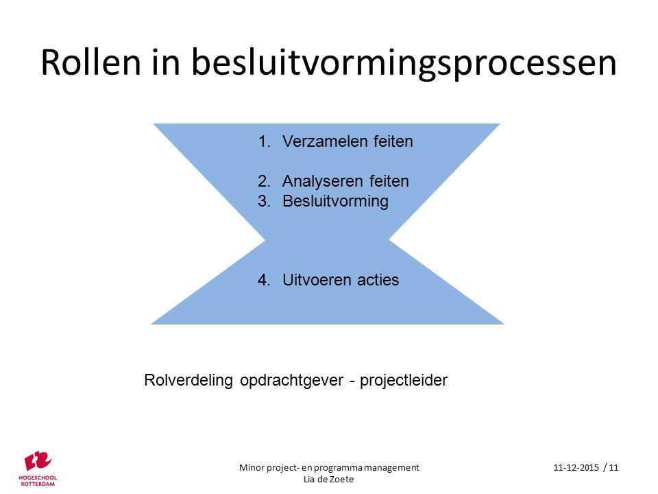 Rollen in besluitvormingsprocessen
