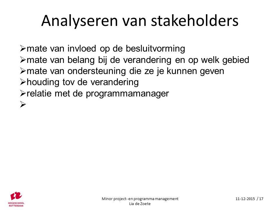 Analyseren van stakeholders