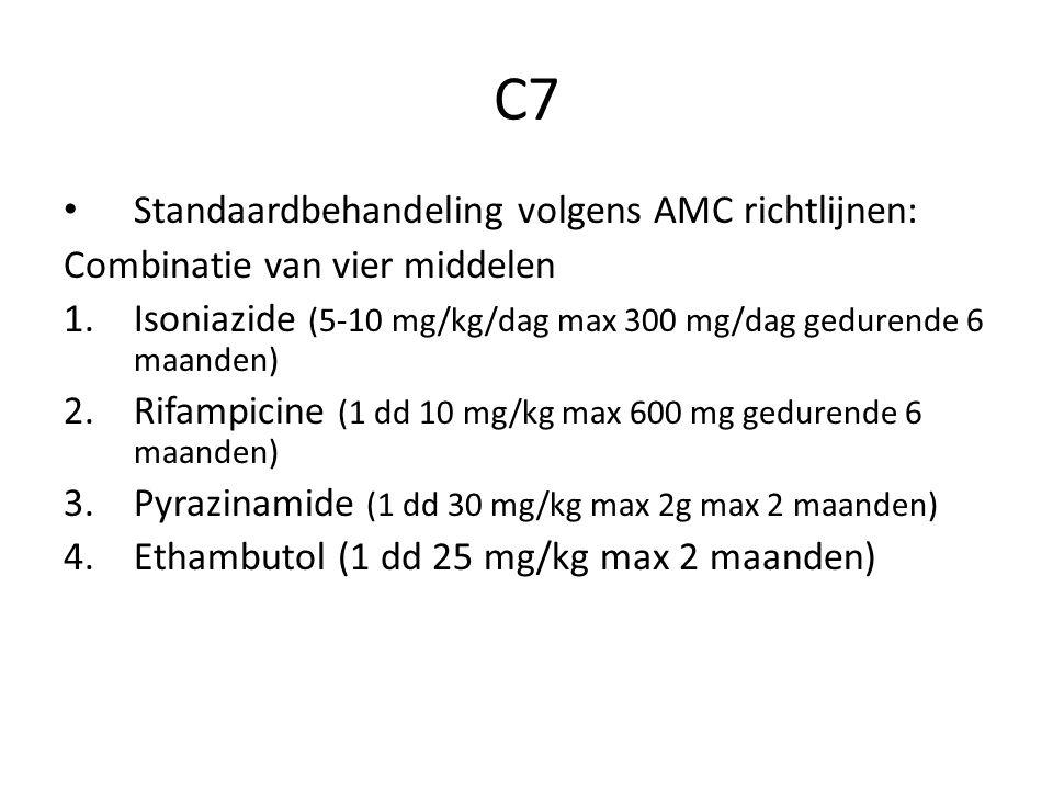 C7 Standaardbehandeling volgens AMC richtlijnen: