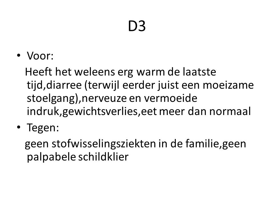 D3 Voor:
