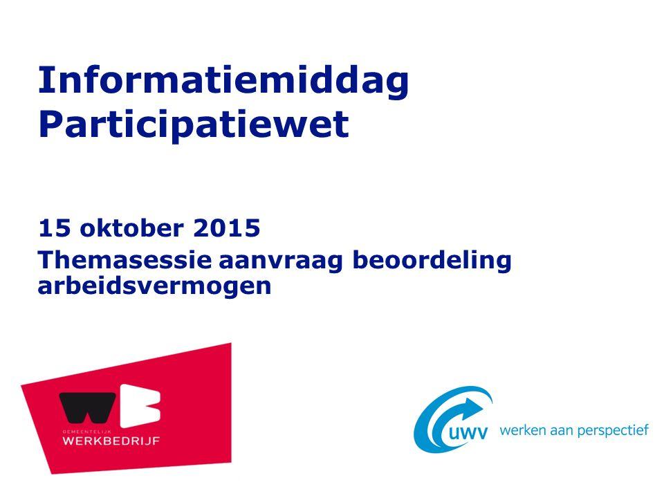 Informatiemiddag Participatiewet