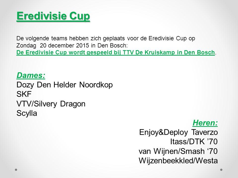 Eredivisie Cup Dames: Dozy Den Helder Noordkop SKF VTV/Silvery Dragon