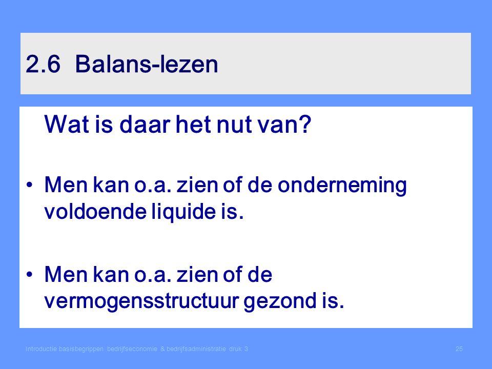 2.6 Balans-lezen Wat is daar het nut van