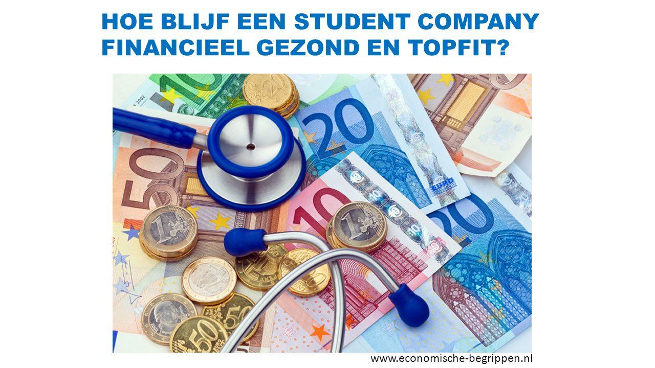 HOE BLIJF EEN STUDENT COMPANY FINANCIEEL GEZOND EN TOPFIT