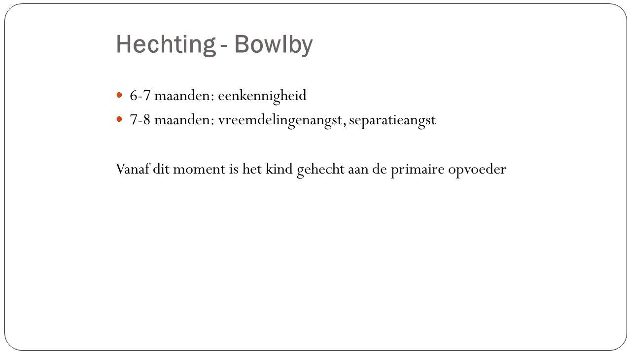Hechting - Bowlby 6-7 maanden: eenkennigheid