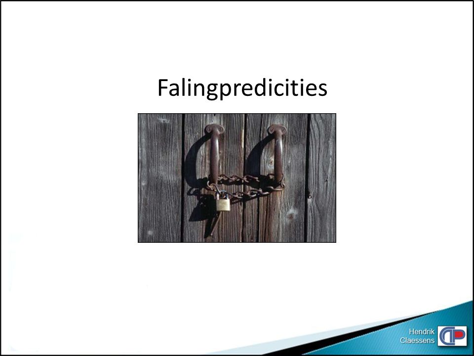 Falingpredicities