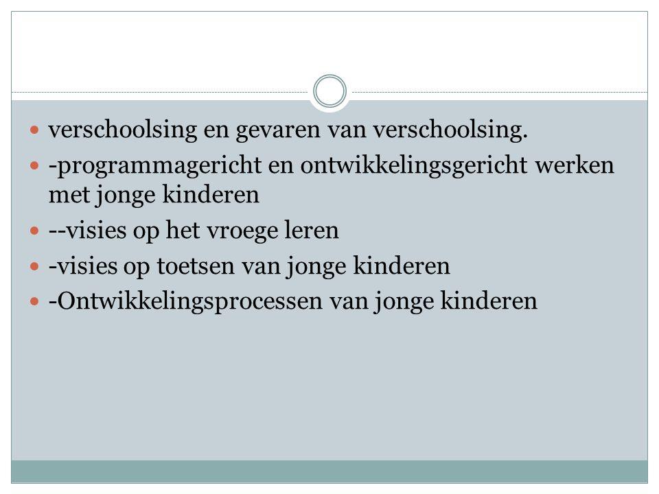 verschoolsing en gevaren van verschoolsing.
