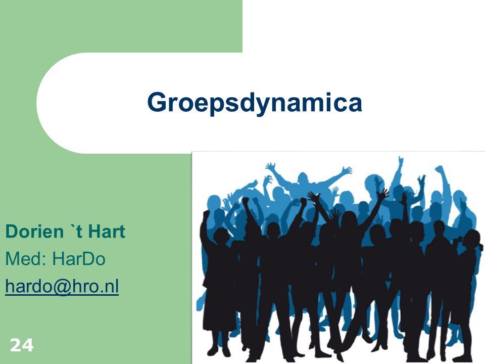 Dorien `t Hart Med: HarDo hardo@hro.nl