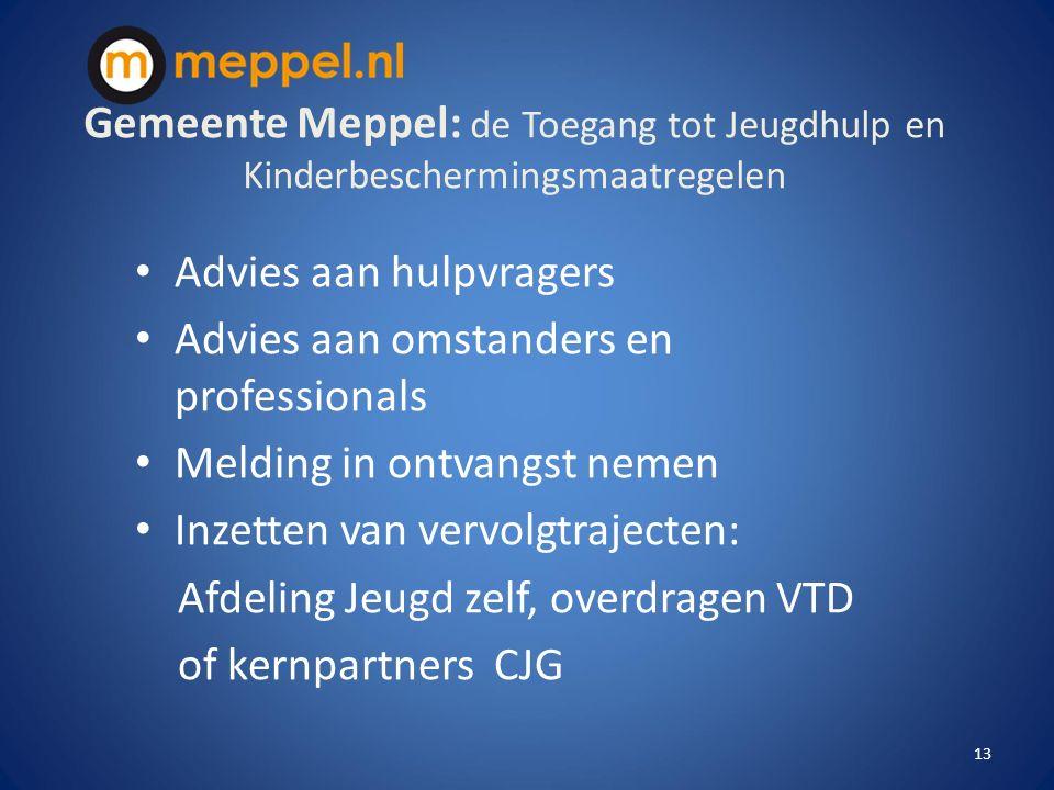 Gemeente Meppel: de Toegang tot Jeugdhulp en Kinderbeschermingsmaatregelen