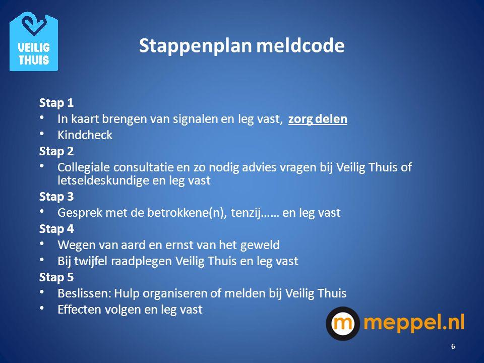 Stappenplan meldcode Stap 1