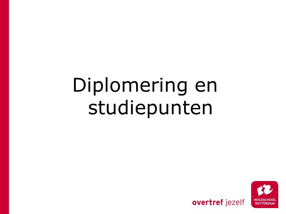 Diplomering en studiepunten
