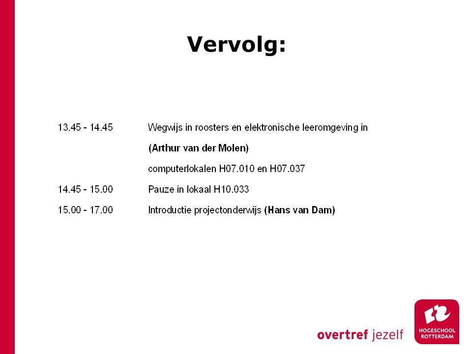 Vervolg: